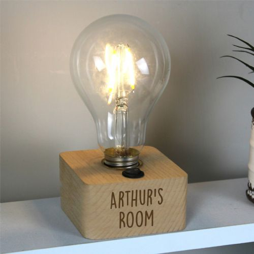 Free Text LED Bulb Table Lamp